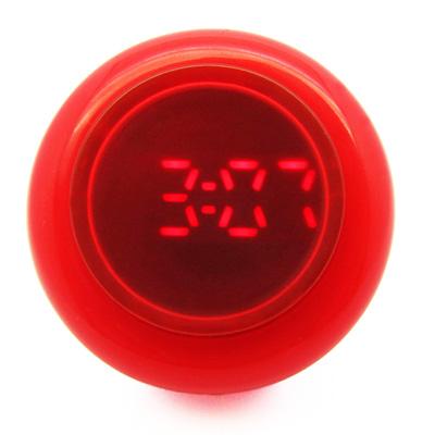 CLICK 復古大圓鍵快打電子腕錶-紅/45mm