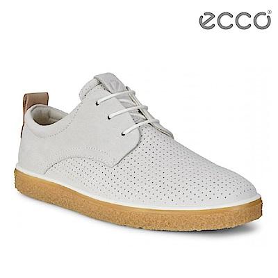 ECCO CREPETRAY LADIES 女 蜜糖牛奶粉嫩休閒鞋-白