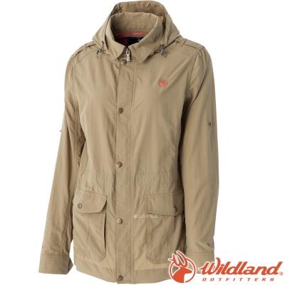 Wildland 荒野 0A51909-82卡其 女 Supplex抗UV外套