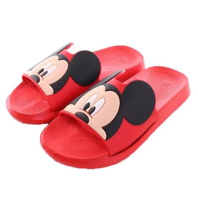 迪士尼米奇休閒拖鞋 紅 sh0030 魔法Baby