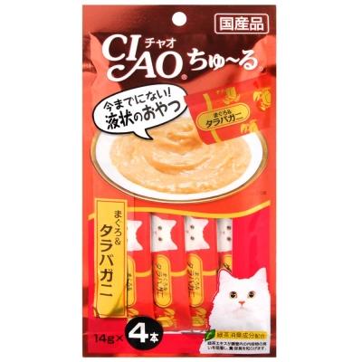 CIAO 啾嚕肉泥 鱈魚+鱈場蟹 14gx4入