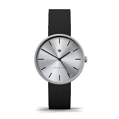 Newgate-DRUMLINE-經典銀-義大利皮革錶帶-40mm