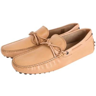 TOD'S Gommino Driving  牛皮綁帶豆豆休閒鞋(男鞋/駝色)