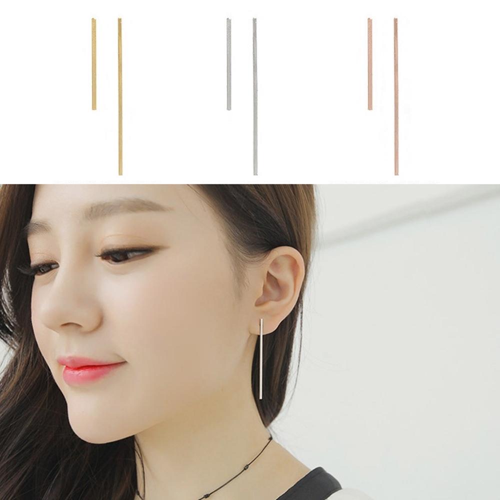 梨花HaNA韓國簡潔俐落一字棒狀耳環