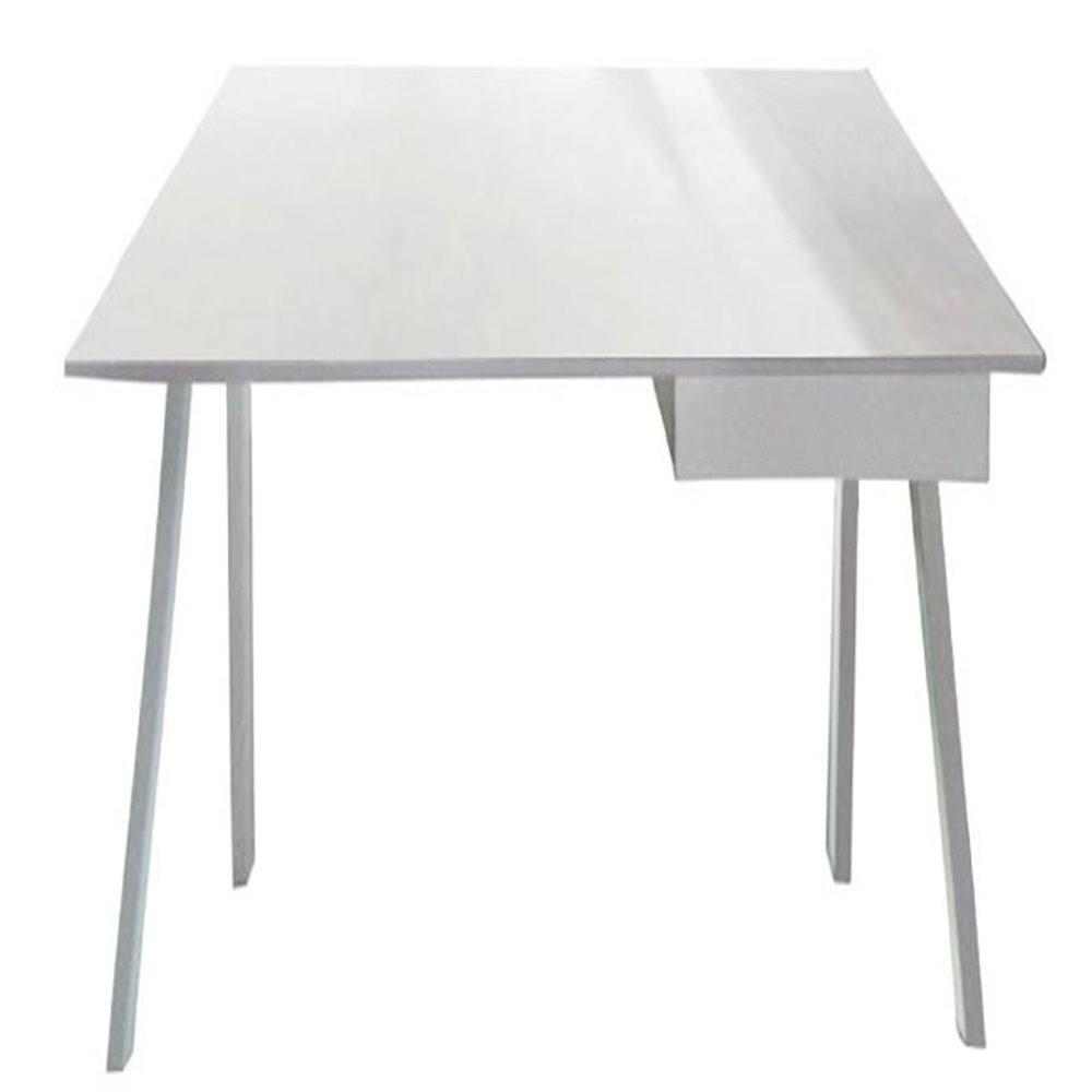 居家生活 艾亞力3.5尺白色單抽電腦桌