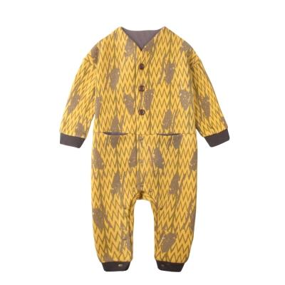 baby童衣 居家系列 長袖前開扣口袋造型連身衣 60272