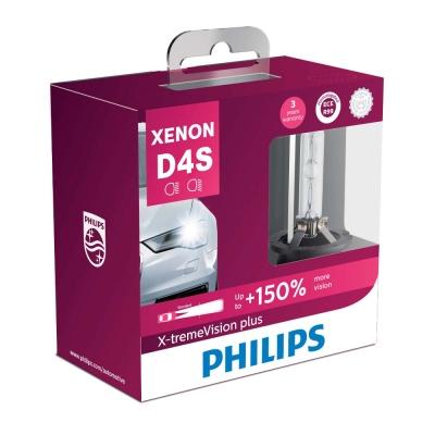 PHILIPS 飛利浦HID 4800K 氙氣車燈-增亮150%(D4S兩入裝)公司貨