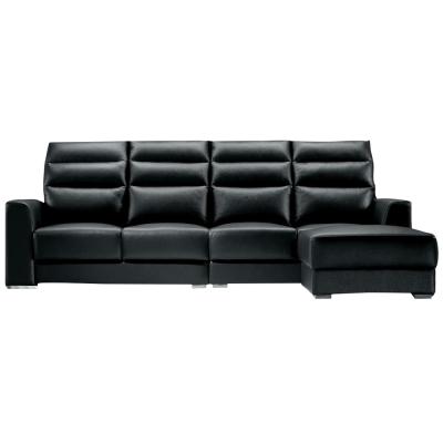 Boden-特里莎厚牛皮L型沙發