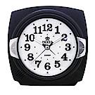 POWER霸王鐘錶-貝殼面板小鬧鐘優雅黑PM666BK-11.5CM