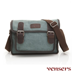 【Vensers】韓潮頂級棉麻包系列~肩背包(C2016102湖綠)
