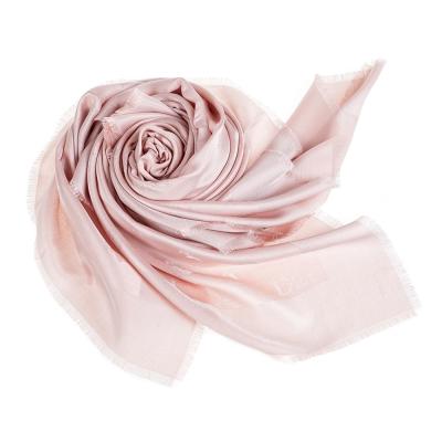 DIOR SO DIOR金銀真絲披肩圍巾粉紅140X140