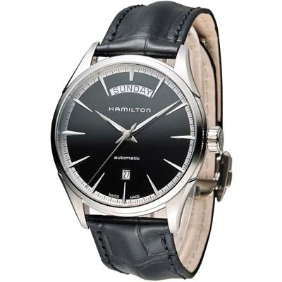 Hamilton 漢米爾頓 Jaazmaster Day/Date時尚機械錶-黑/42mm