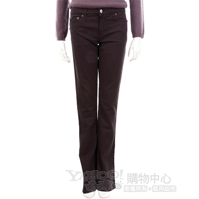 JUSTcavalli 深紫色鑽飾LOGO長褲