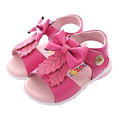 蝴蝶結手工魔鬼貼涼鞋 桃 sk0403 魔法Baby