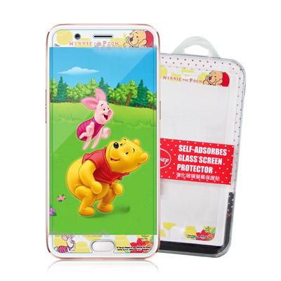 迪士尼授權正版 OPPO R11 花花系列 全隱形玻璃保護貼(維尼小豬)