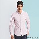 GIORDANO 男裝刺繡牛津紡襯衫-86 紅白條紋