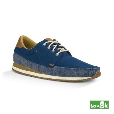 SANUK 復古運動外型設計款休閒鞋-男款(藍色)