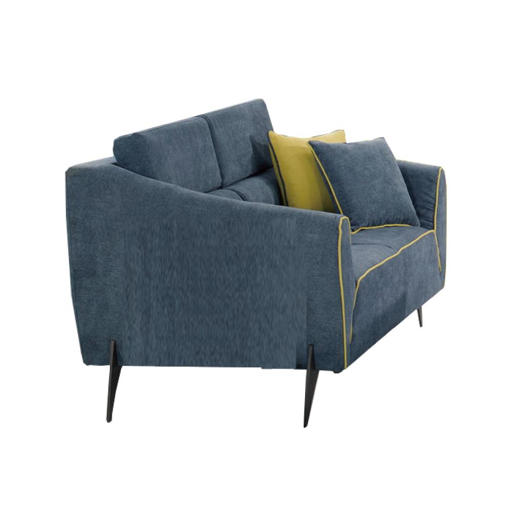 品家居 亞摩斯絲絨布實木沙發雙人座-162x91x80.5cm-免組