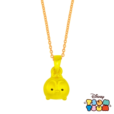 Disney迪士尼TSUM TSUM系列金飾-黃金墜子-奇奇款 送玫瑰鋼項鍊