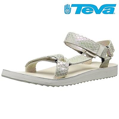 TEVA ORIGINAL UNIVERSAL IRIDESCENT 女休閒涼鞋白