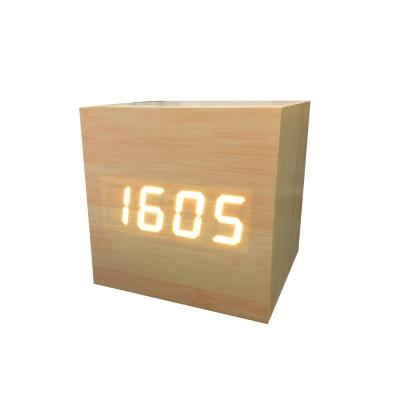 GreenTime 方型木質聲控鬧鐘(GT-CP8)