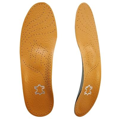 足的美形 透氣超纖皮足弓全墊  咖( 2雙)