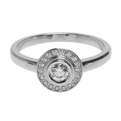Cartier 卡地亞 經典鉑金鑽石鑲嵌婚戒(#52)