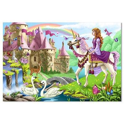 美國 Melissa & Doug 地板拼圖-童話城堡-48片