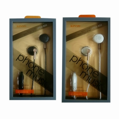 KINYO手機用耳塞式耳麥IPEM-855(兩支裝)