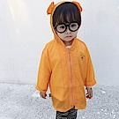 Baby unicorn 橘色字母耳朵連帽防曬薄外套