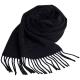 Aquascutum 高質感100%羊毛經典品牌字母LOGO刺繡圍巾(黑) product thumbnail 1