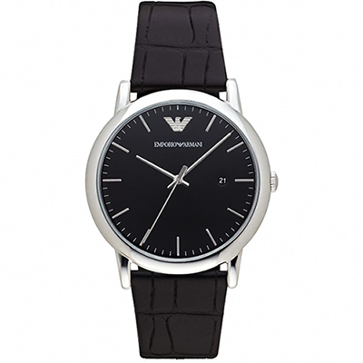 Emporio Armani Classic 都會時尚石英腕錶-黑/42mm