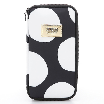 VOVAROVA空氣包-環遊世界護照夾-波卡圓點(黑)