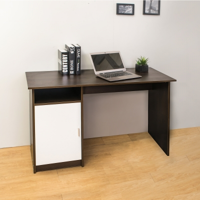 Boden-亞諾單門空抽書桌/工作桌(胡桃色)-116x50x75cm