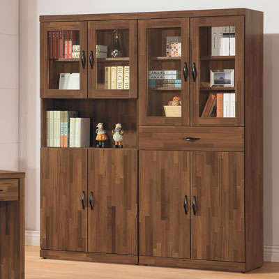 時尚屋 積層木5.2尺書櫃組 寬158x深39x高182cm