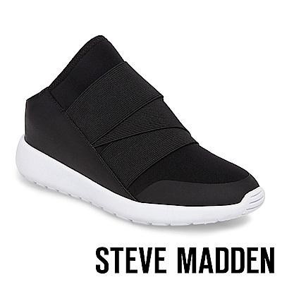 STEVE MADDEN-VINE 異材質拼接休閒穆勒鞋-黑色