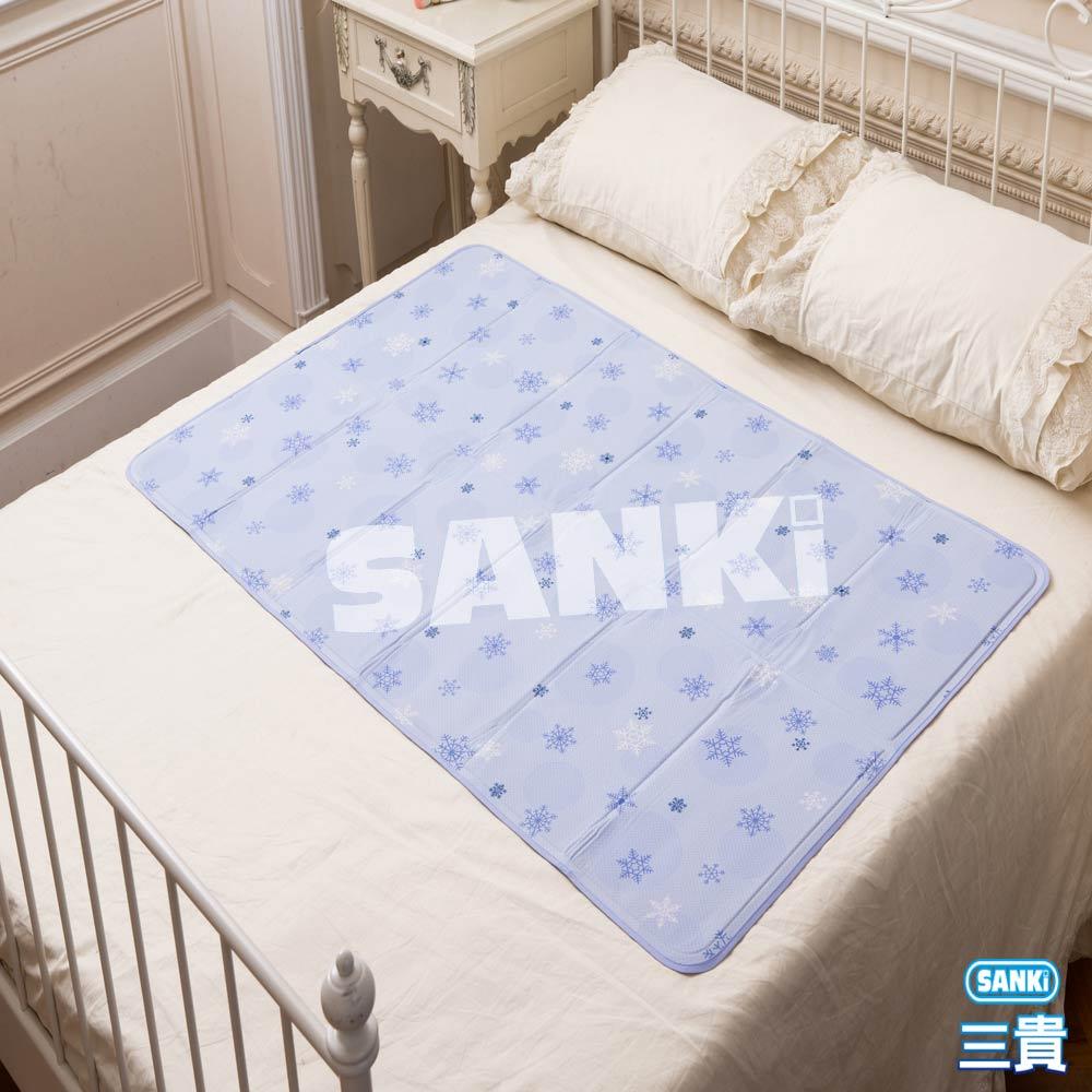 日本SANKi 雪花紫冰涼床墊1床2枕 90x140cm