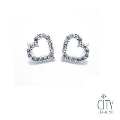City Diamond『心印』K金耳環