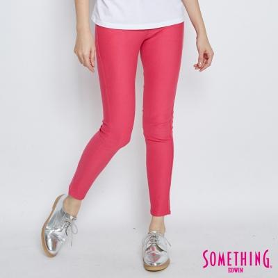 SOMETHING 誘人自信 LADIVA提臀窄直筒褲-女-紅色