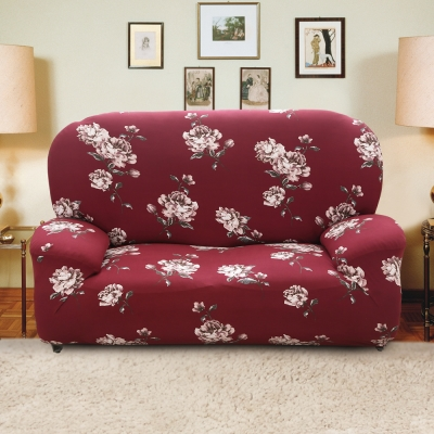 歐卓拉 月色牡丹彈性沙發套2人座