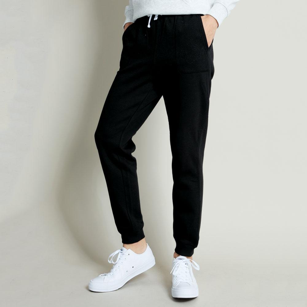 101原創 素色口袋刷毛縮口褲-共4色