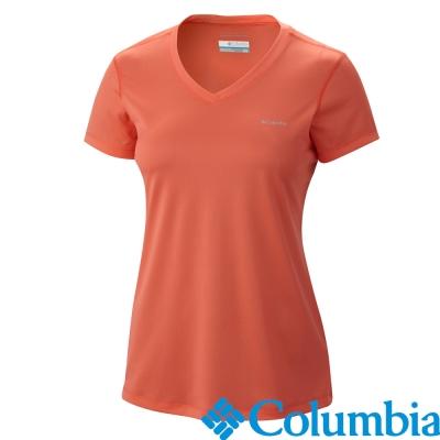 【美國Columbia哥倫比亞】短袖快排上衣-女-橘色(UAK65950OG)