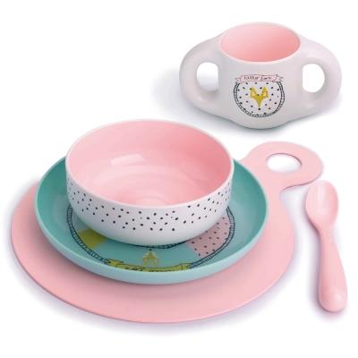奇哥 Suavinex  5件餐具組-小狐狸粉