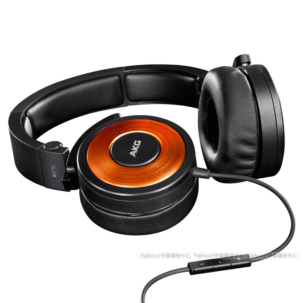 AKG K619 iPhone專用頭戴式耳機-橘