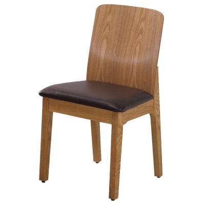 居家生活 凱爾栓木皮面餐椅