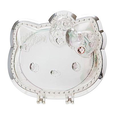 Sanrio HELLO KITTY大臉造型透明壓克力化妝立鏡