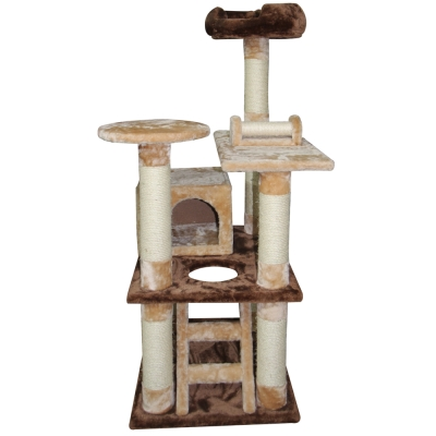 Doter寵愛物語 遊樂園貓跳台 全貓用 米+深咖啡色 x 1入