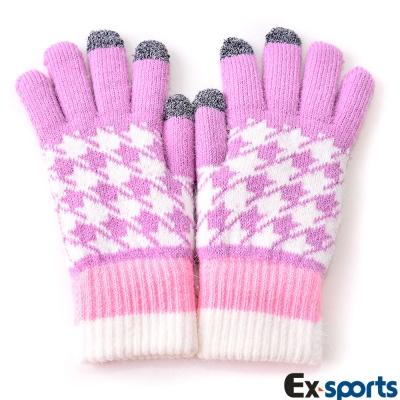 Ex-sports 觸控手套 智慧多功能(女款-粉色)