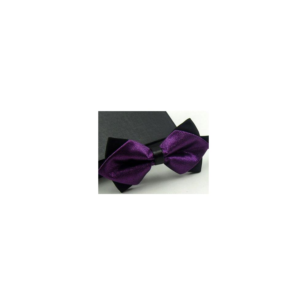 【拉福】高檔尖角領結新郎結婚領結糾糾 (深紫色)