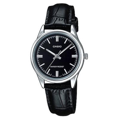 CASIO 經典復古輕巧指針腕錶-黑色X銀框(LTP-V005L-1A)/30mm